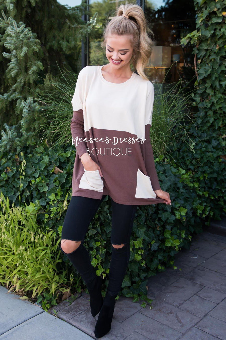 A Walk in the Park Block Sweater