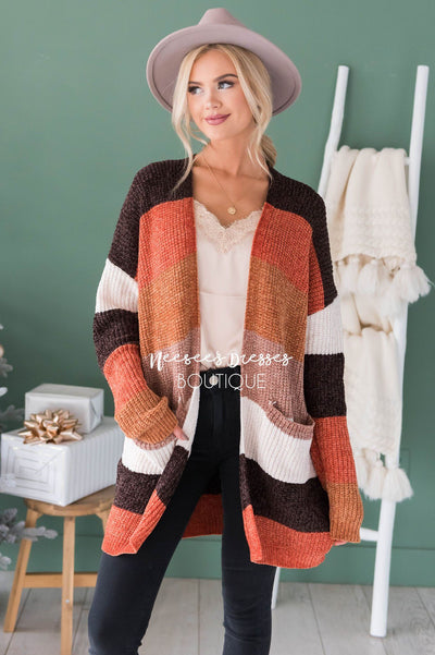 Adventures Ahead Chenille Cardigan Modest Dresses vendor-unknown