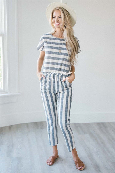 The Shelby Striped Jumpsuit