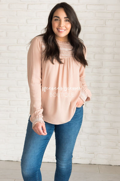 Anything is Possible Modest Blouse Tops vendor-unknown