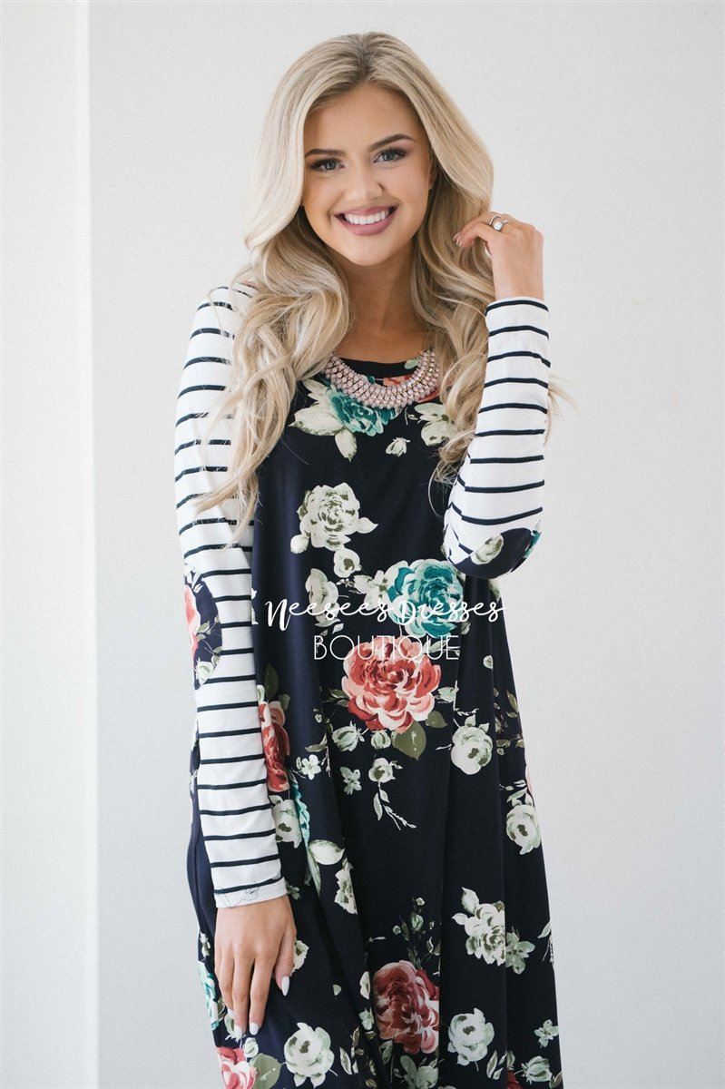 The Wren Modest Dresses vendor-unknown S Midnight Floral