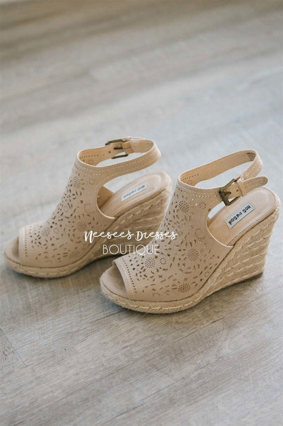 Jobyna Cream Wedges Accessories & Shoes vendor-unknown 5.5 Cream