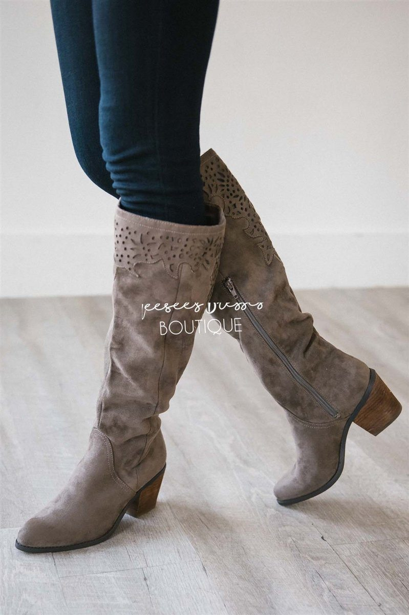 The Maddie Lace Trim Boot