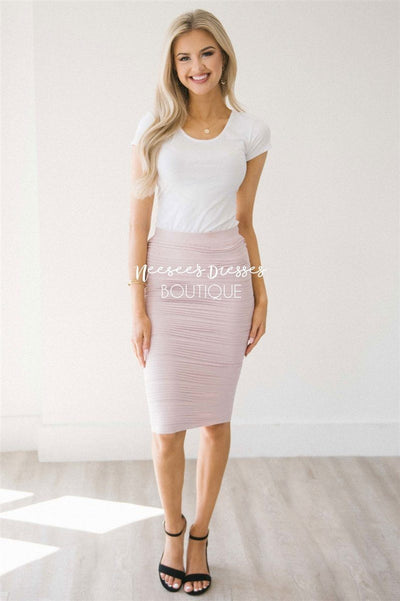 Cute Scrunch Pencil Skirt NEW vendor-unknown Blush One Size
