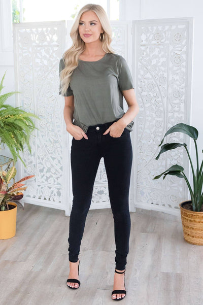 Basic Simple Comfy Tee Tops vendor-unknown