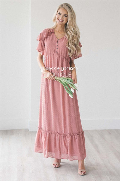 The Blakely Modest Dresses vendor-unknown S Dusty Rose