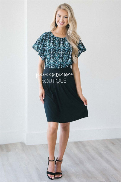 Pleat Front Skirt Skirts vendor-unknown Black XS