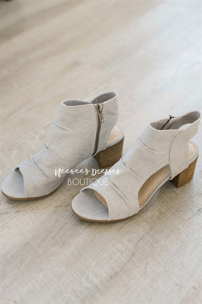 Anna Light Gray Canvas Sandals Accessories & Shoes vendor-unknown Light Gray 5.5