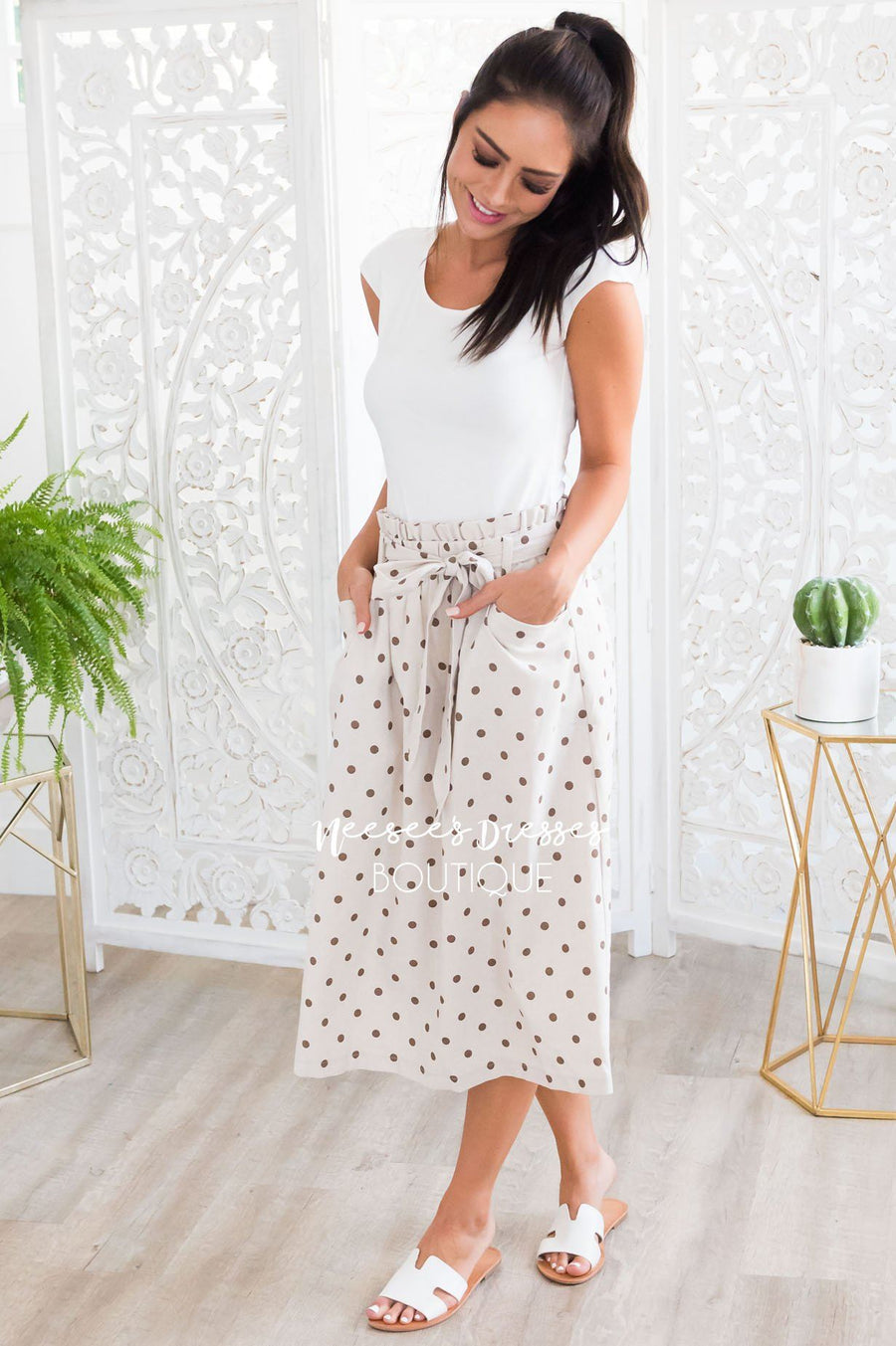 Lots of Dots Modest Skirt