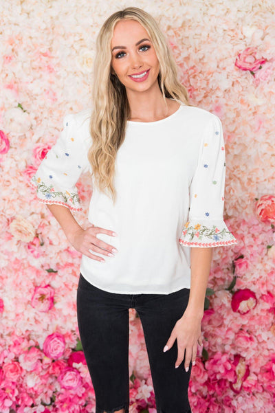 It's All About You Modest Blouse Tops vendor-unknown