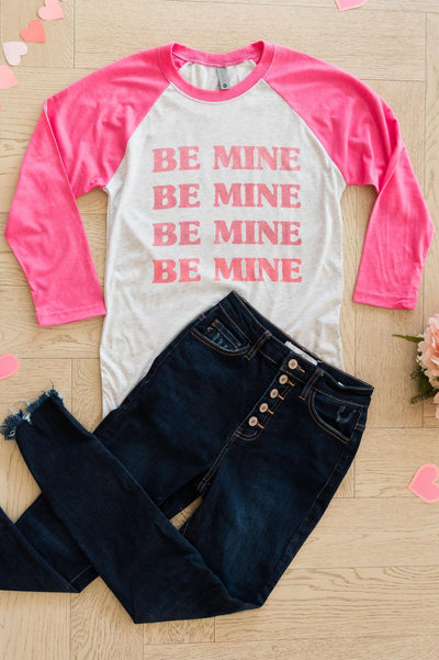 Be Mine Modest Baseball Tee Modest Dresses vendor-unknown