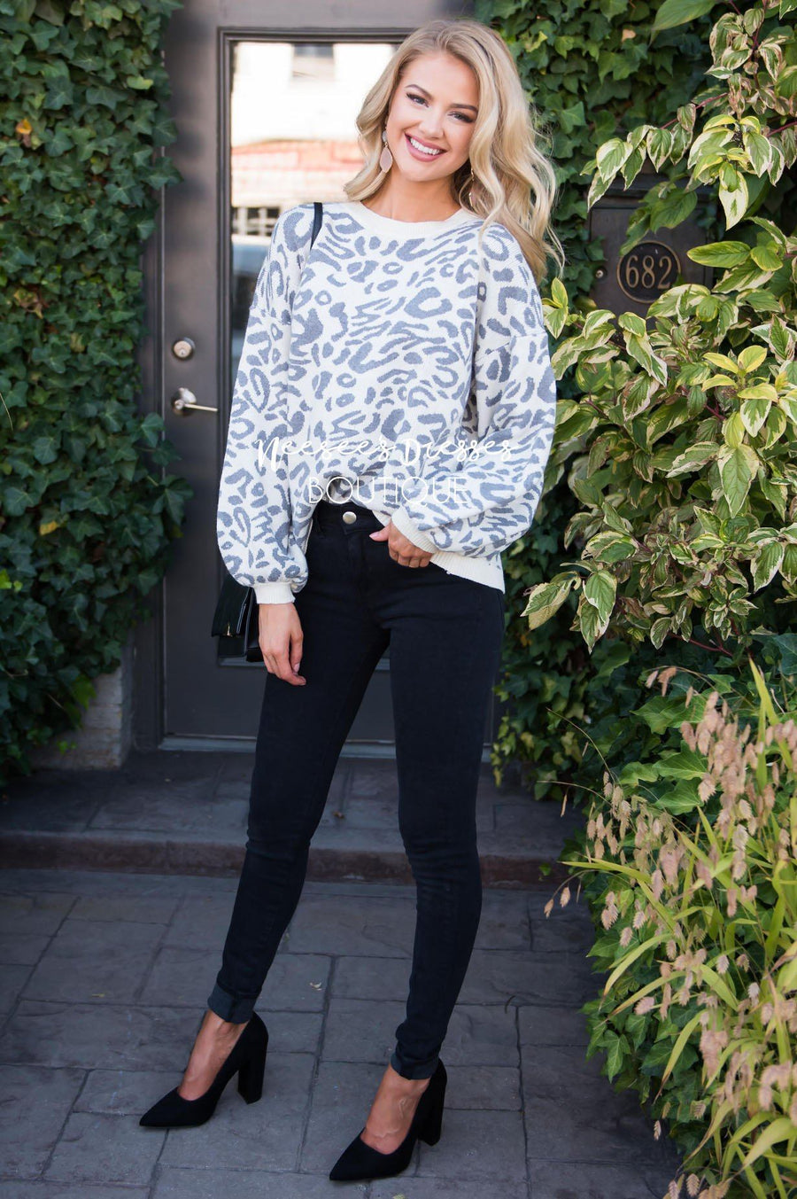 Better Together animal print sweater