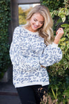 Better Together animal print sweater Tops vendor-unknown