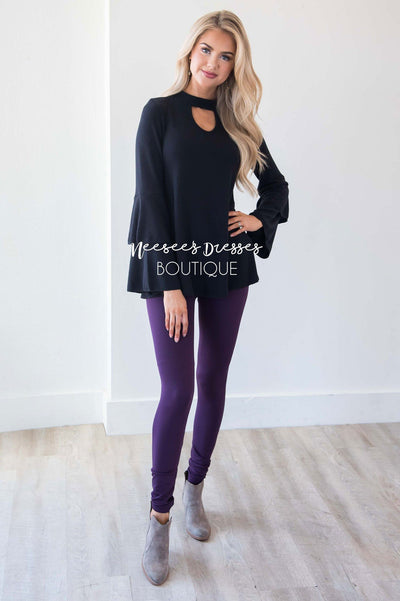 Romantic Flounce Sleeve Sweater Tops vendor-unknown