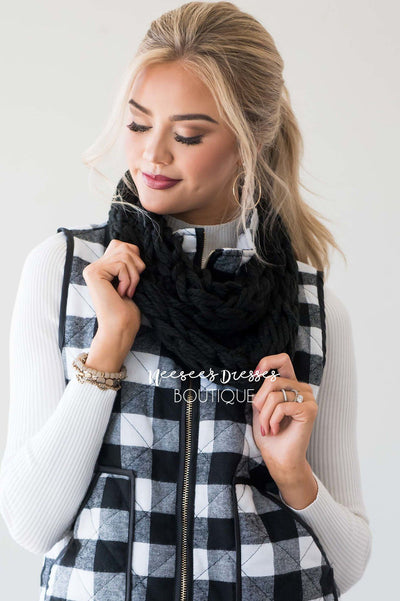 Sweetest Daydreams Braided Infinity Scarf Accessories & Shoes Hana