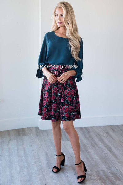 Confident Heart Floral Skirt