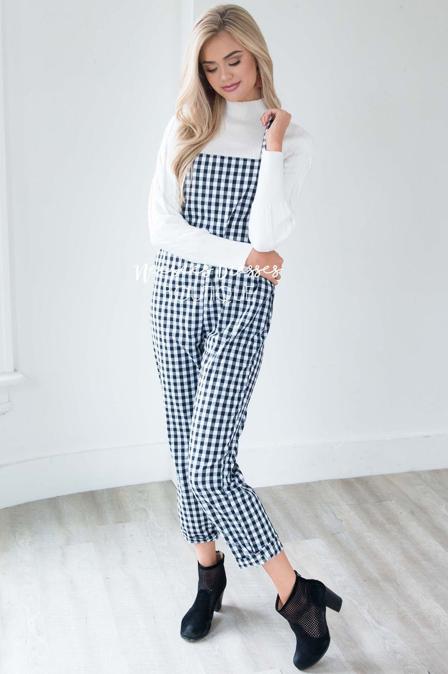 The Maya Gingham Print Overalls