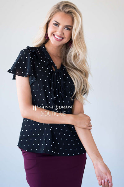 Your Sweet Charm Polka Dot Blouse Tops vendor-unknown