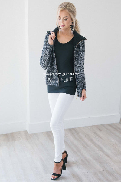 Fur Collar Knitted Coat