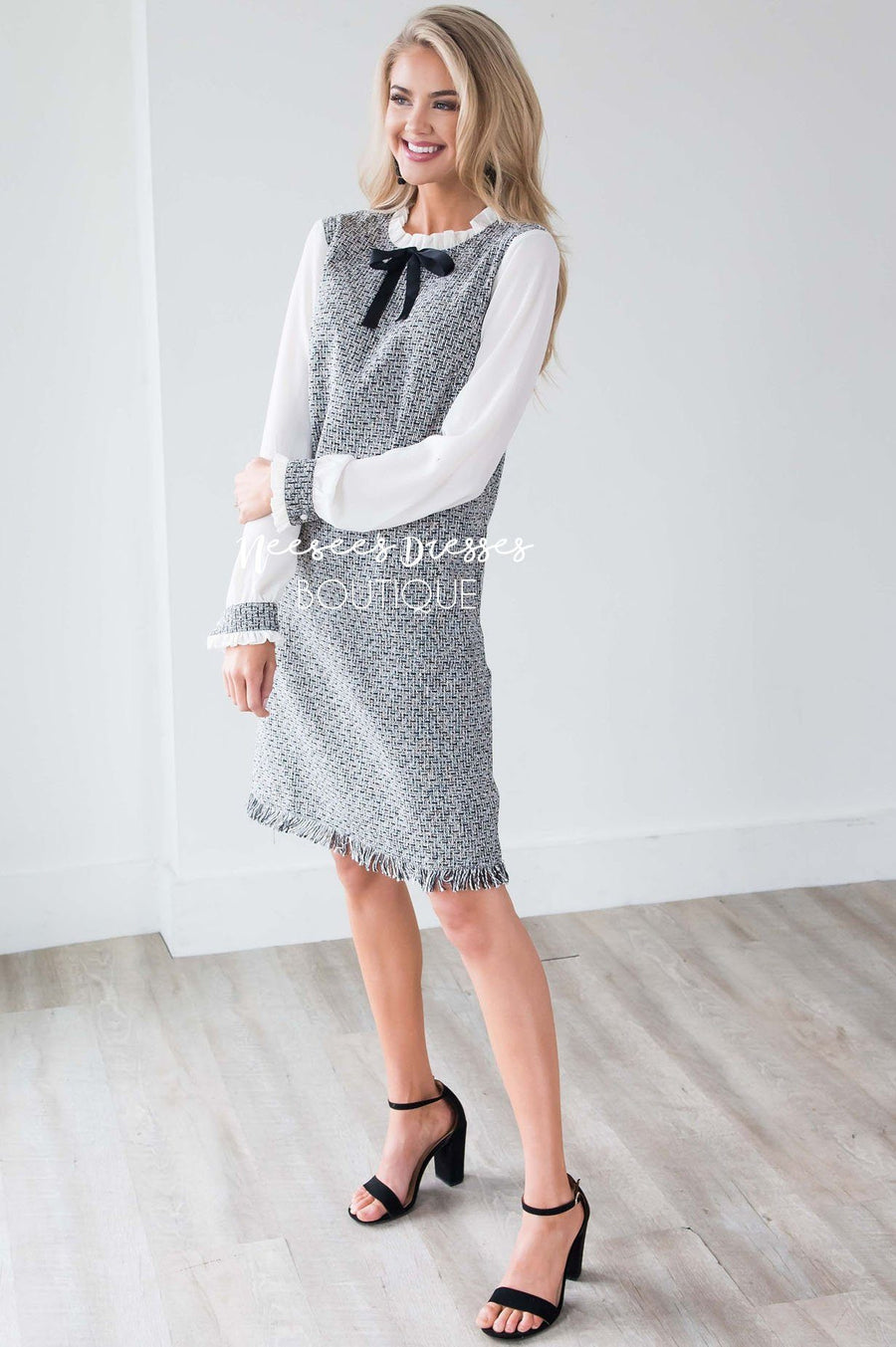 The Izzy Tweed Shift Dress