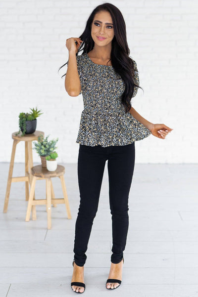 Warm Autumn Nights Modest Blouse Tops vendor-unknown