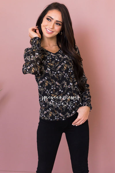 Speak Your Heart Modest Blouse Tops vendor-unknown
