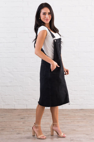 The Sharia Denim Overall Dress Modest Dresses vendor-unknown