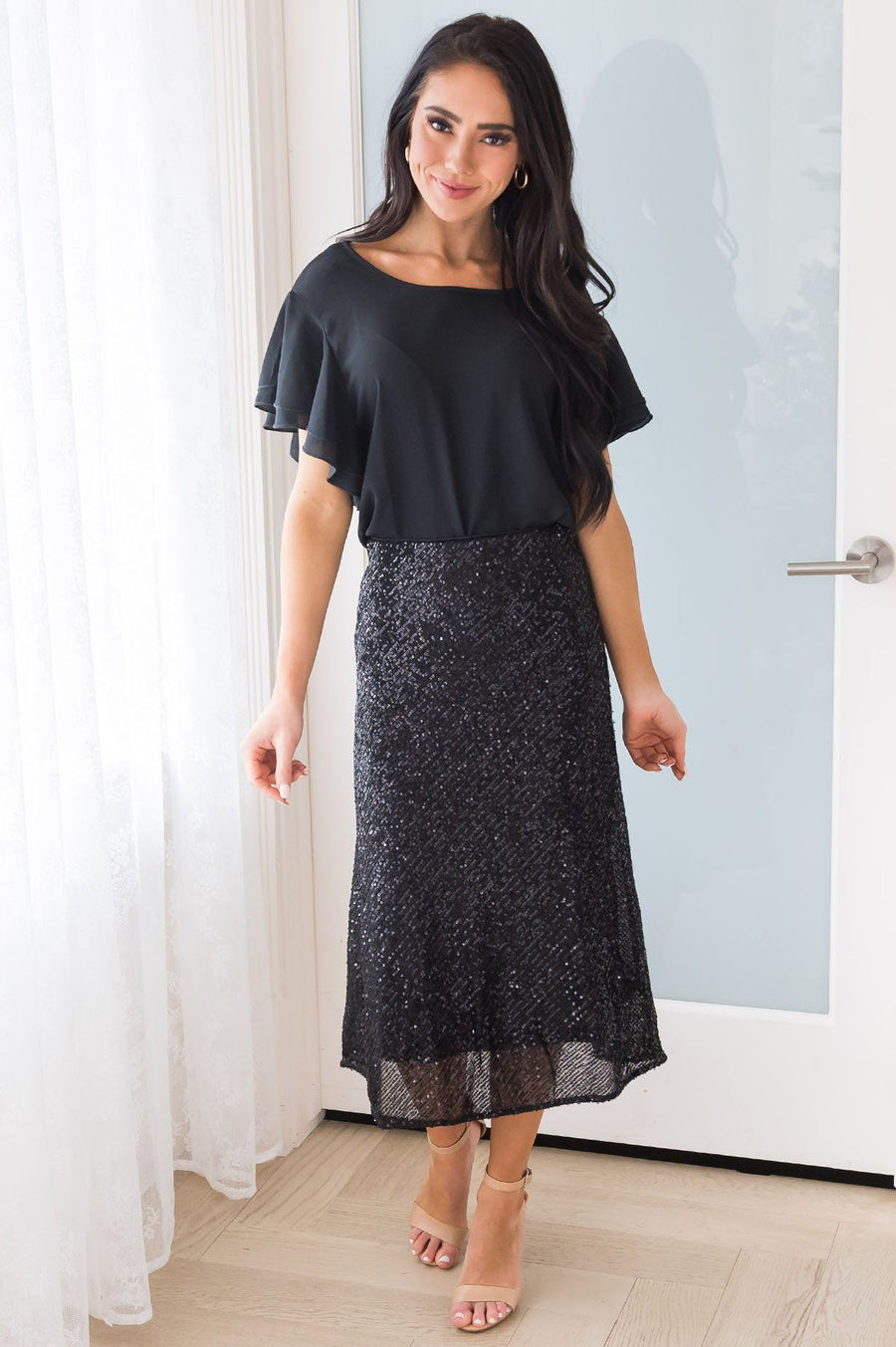 Be A Shining Star Modest Sequin Skirt