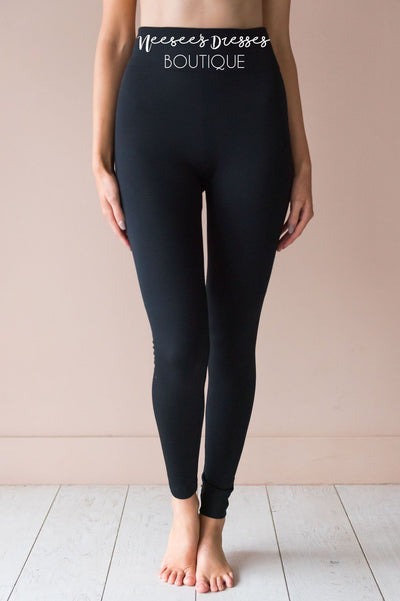 Black Fleece Leggings Accessories & Shoes vendor-unknown