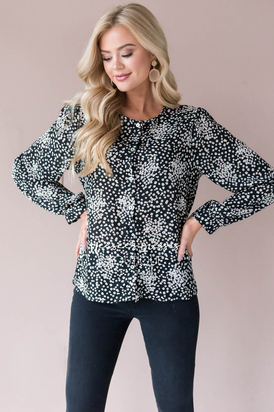 Floral Frenzy blouse