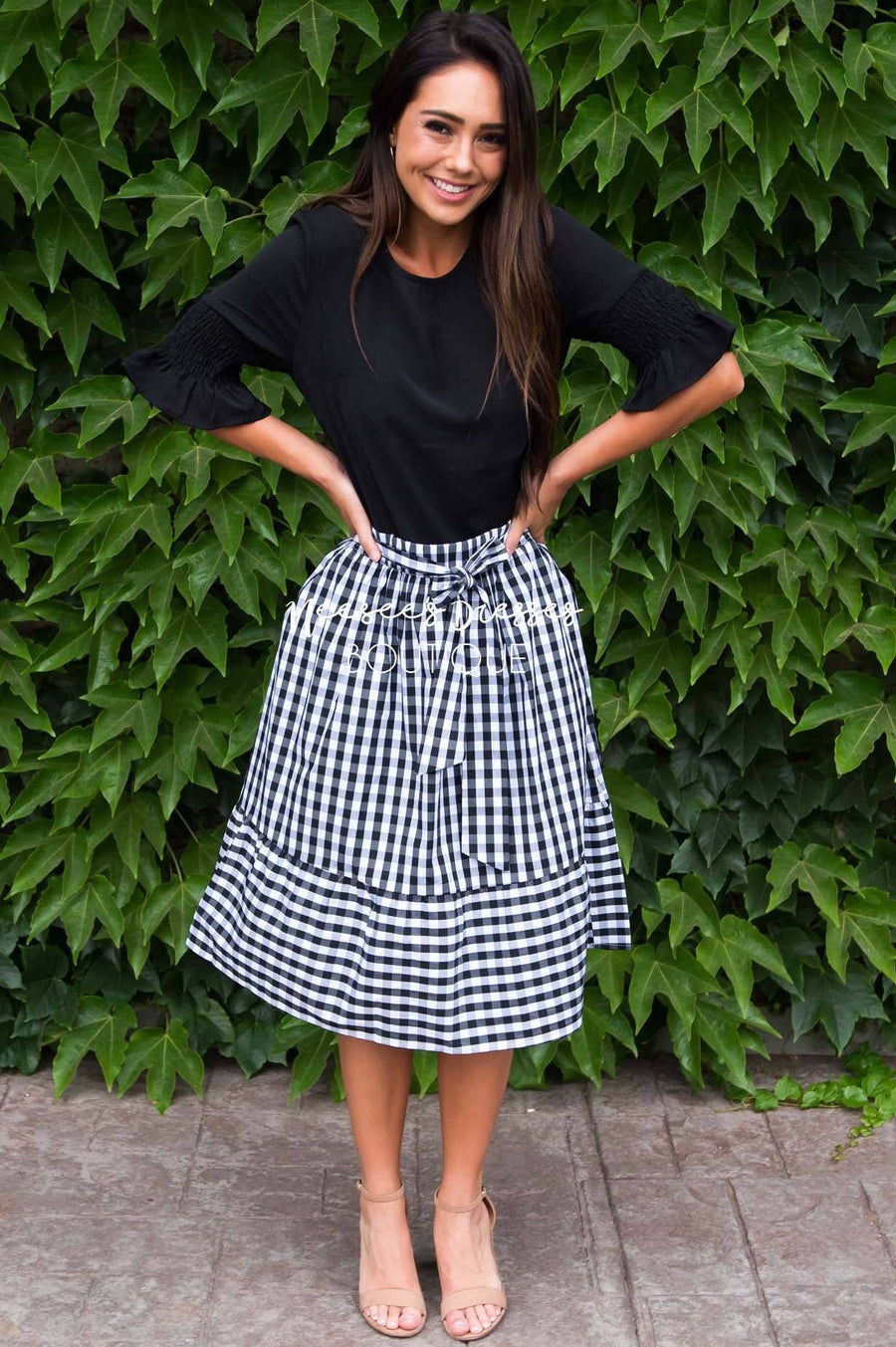 Girls Day Out Gingham skirt