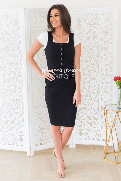 The Jeanna Overall Dress Modest Dresses vendor-unknown