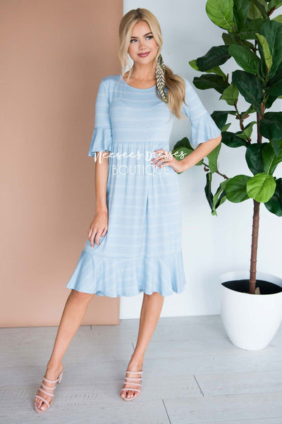 The Jessa Bell Sleeve Dress Modest Dresses vendor-unknown