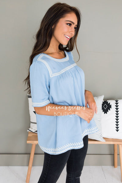 Always Charming Modest Blouse Tops vendor-unknown