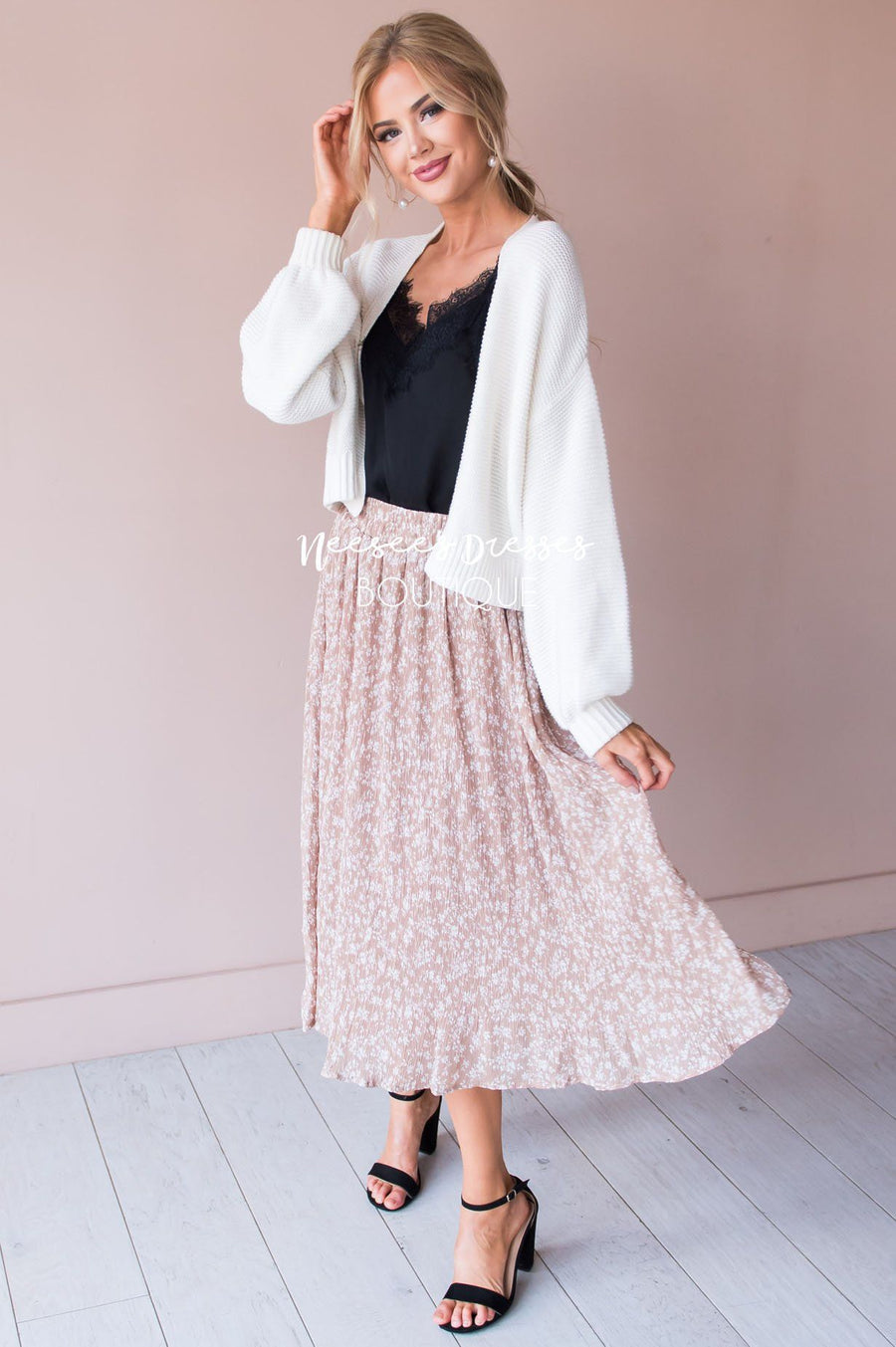 Keep it Flowy Skirt Modest Dresses vendor-unknown