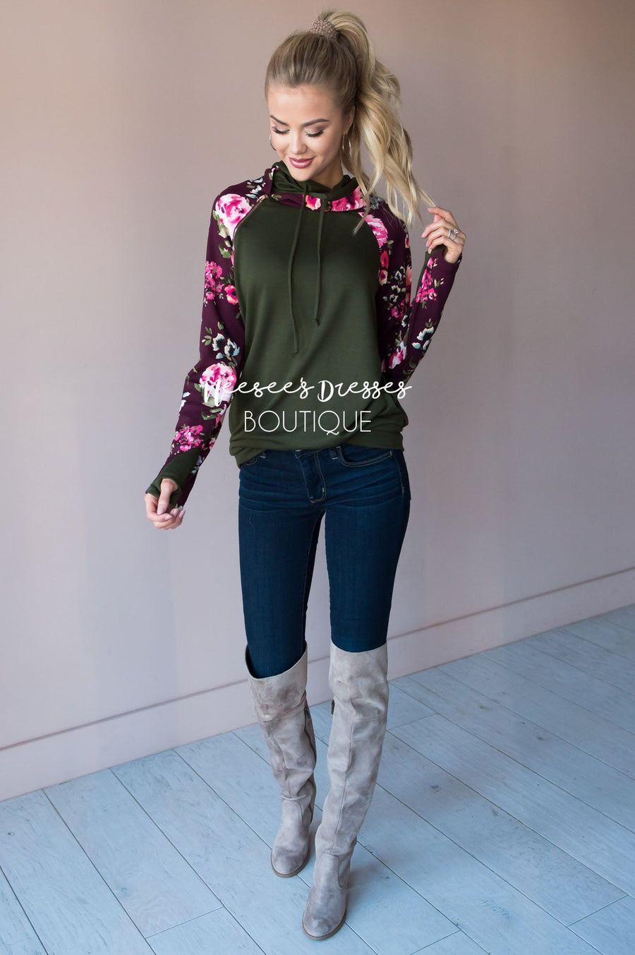 Bold and Brave Floral Hoodie