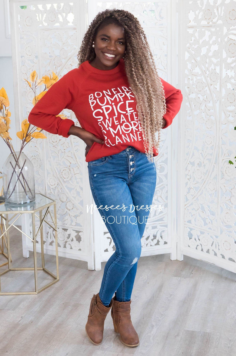 It's All About Fall Modest Sweatshirt