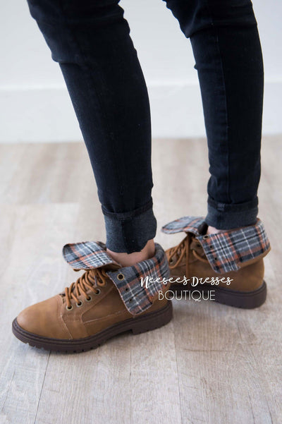Colonel Sanders Plaid Detail Rolled Over Booties Accessories & Shoes vendor-unknown