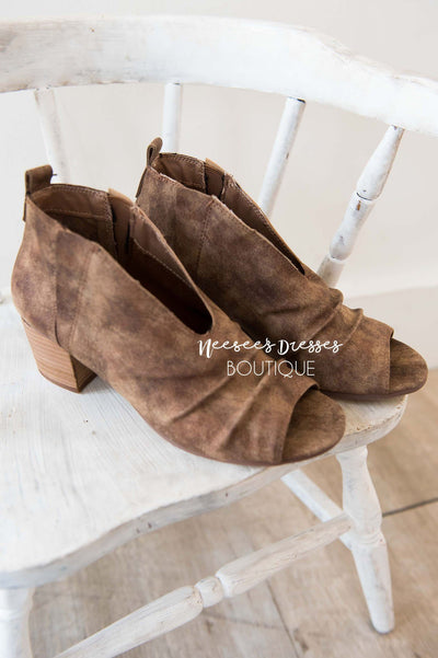The Janice Open Toe Booties Accessories & Shoes vendor-unknown