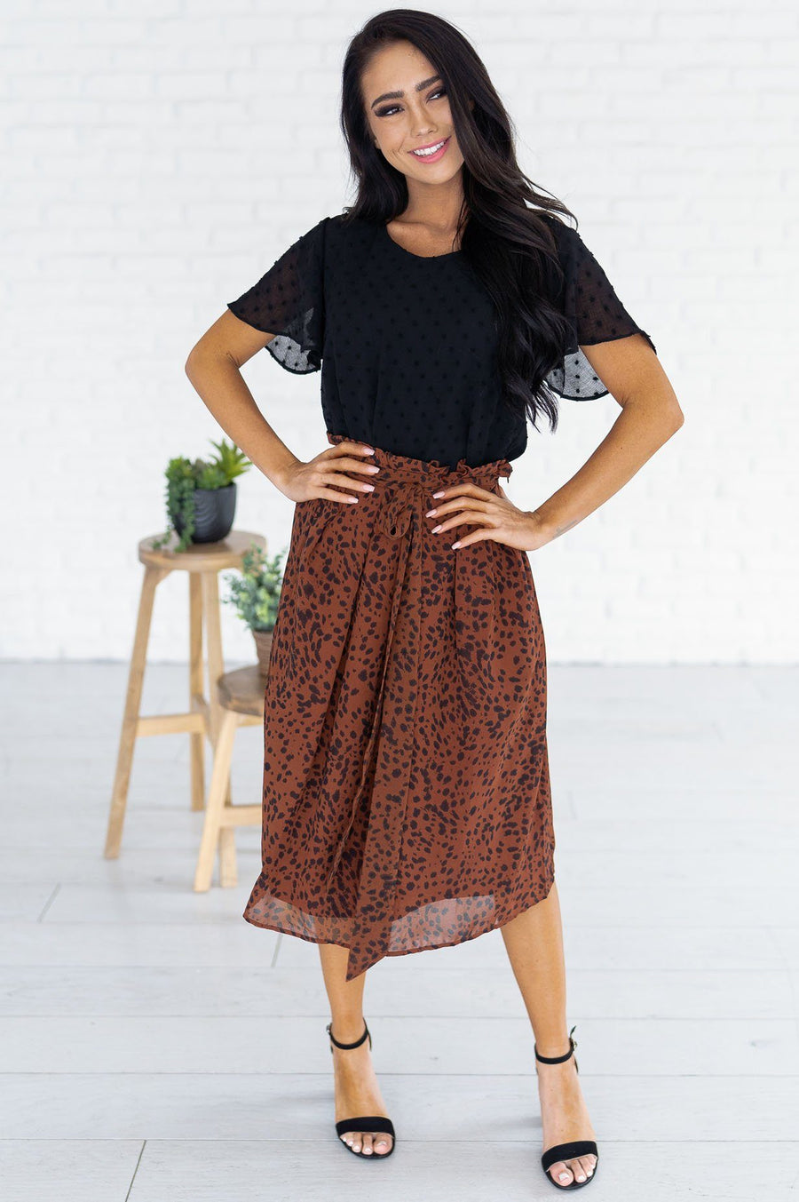Look This Way Modest Tie Skirt