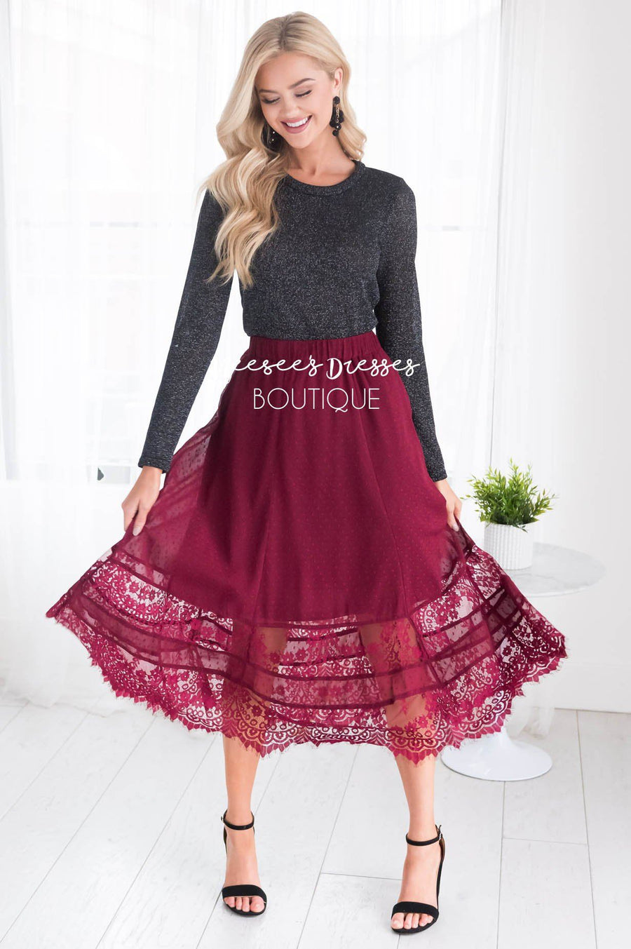 Sheer Joy Lace Skirt