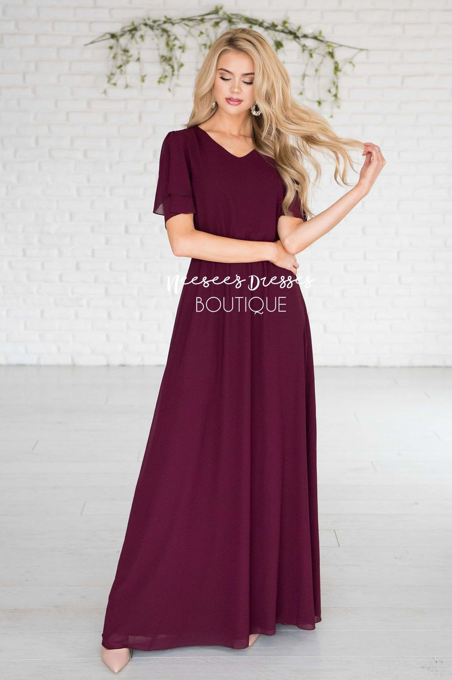 The Chloe Chiffon Maxi Dress