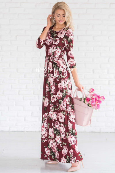 The Holland - 3/4 Length Sleeves Modest Dresses vendor-unknown