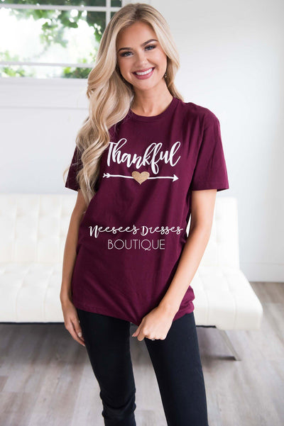 Thankful Graphic Tee Tops vendor-unknown
