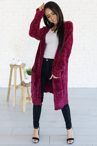 Living My Best Style Chenille Cardigan Modest Dresses vendor-unknown