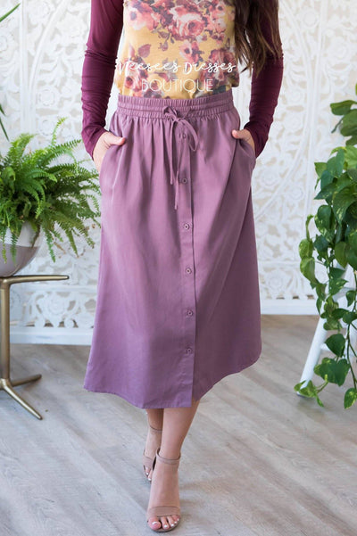 Full of Joy button skirt Modest Dresses vendor-unknown
