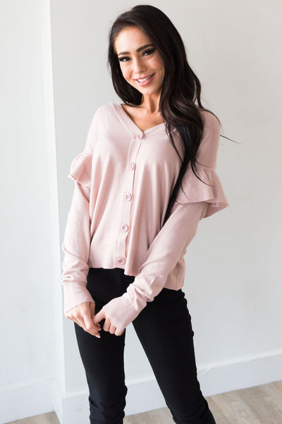 A Little Bit Fancy Modest Cardigan Tops vendor-unknown