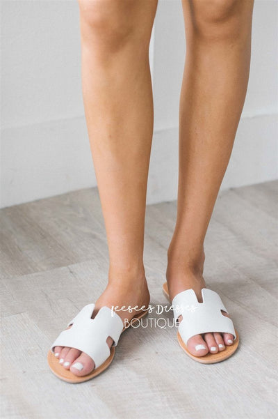 Cutout Slide Sandals Accessories & Shoes vendor-unknown