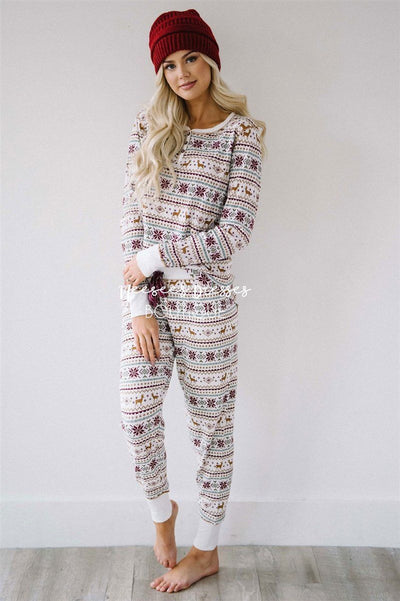 Fair Aisle Thermal Jammie Set New Year SALE vendor-unknown
