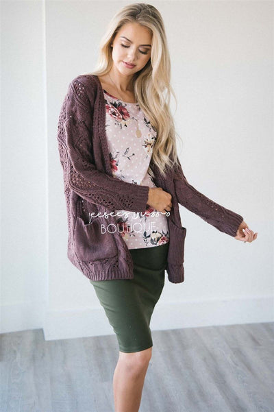 Over Sized Crochet Knit Cardigan